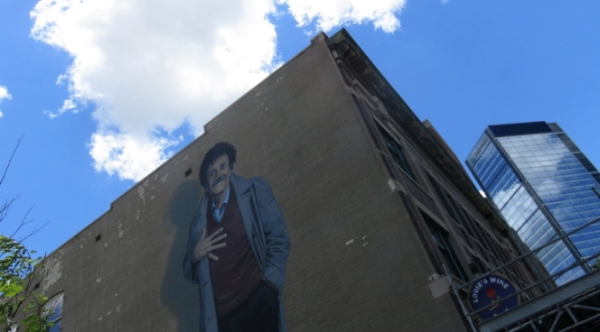 Kurt Vonnegut street art in downtown Indianapolis, Indiana
