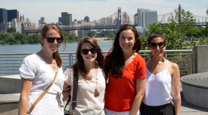 Friends on the waterfront in LIC
