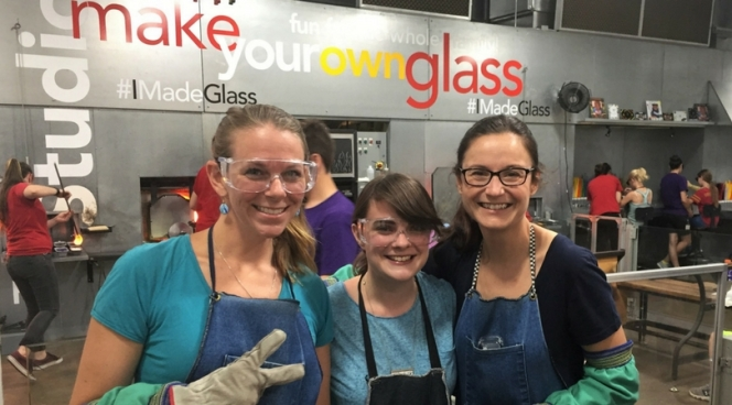 Making glass at Corning Museum of Glass